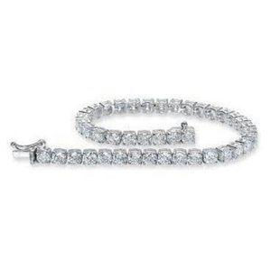 Round Brilliant Diamond Tennis Bracelet Women Jewe